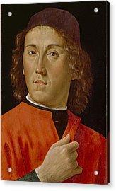 Young Man  Acrylic Print by Domenico Ghirlandaio