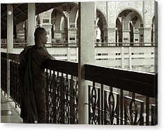 Young Monks In Mandalay Hill Acrylic Print by RicardMN Photography