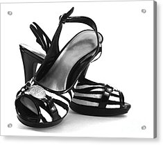 Zebra Print Pumps Acrylic Print by Blink Images