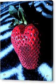 Zebra Strawberry Acrylic Print by Kym Backland