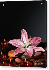 Zen Atmosphere At Spa Salon Acrylic Print by Anna Omelchenko