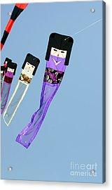 Zen Kimono Dolls Acrylic Print by David Lade