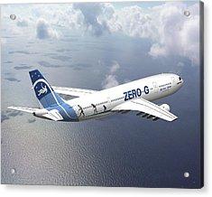 Zero-g Airbus Aircraft, Artwork Acrylic Print by David Ducros