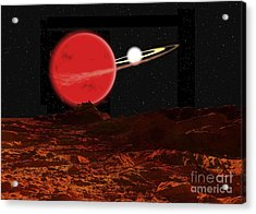 Zeta Piscium Is A Binary Star System Acrylic Print by Ron Miller