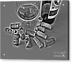 Zin Black And White Acrylic Print by Cheryl Young