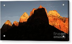 Zion The Great Wall Acrylic Print by Bob Christopher