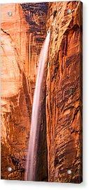 Zion Waterfall Acrylic Print by Adam Pender