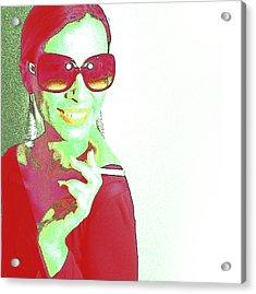 Zoe Acrylic Print by Naxart Studio