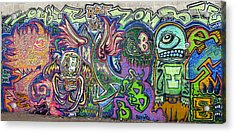 Zombie Monster Family Acrylic Print by Travis Burns