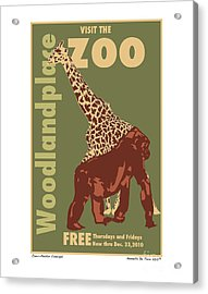 Zoo Poster Acrylic Print by Kenneth De Tore