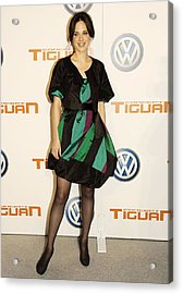 Zooey Deschanel At Arrivals For Concept Acrylic Print by Everett