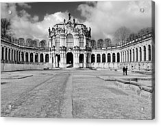 Zwinger Dresden Rampart Pavilion - Masterpiece Of Baroque Architecture Acrylic Print by Christine Till