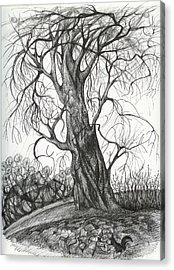 Autumn Dancing Tree Acrylic Print by Anna  Duyunova