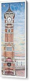 Clock Tower  Morecambe  Lancashire Acrylic Print by Sandra Moore