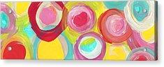Colorful Sun Circles Panoramic Horizontal Acrylic Print by Amy Vangsgard