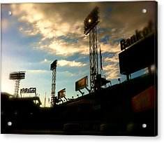 Fenway Lights Fenway Park David Pucciarelli  Acrylic Print by Iconic Images Art Gallery David Pucciarelli