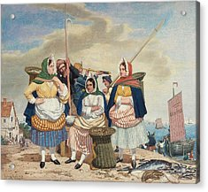 Fish Market By The Sea Ca Acrylic Print by Richard Dadd