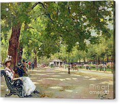 Hyde Park - London Acrylic Print by Count Girolamo Pieri Nerli