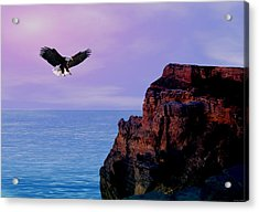 I'm Free To Fly Acrylic Print by Evelyn Patrick