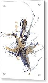Imaginary Dance Or Swan Lake Acrylic Print by Lousine Hogtanian