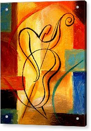 Jazz Fusion Acrylic Print by Leon Zernitsky