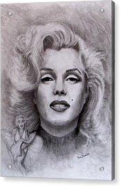Marilyn Acrylic Print by Jack Skinner