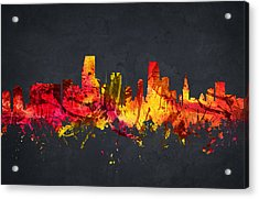 Miami Cityscape 07 Acrylic Print by Aged Pixel