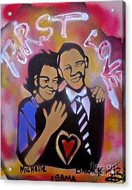 Obama First Love... Acrylic Print by Tony B Conscious