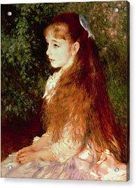 Portrait Of Mademoiselle Irene Cahen D'anvers Acrylic Print by Pierre Auguste Renoir