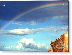 Rainbow Over El Morro Fortress Acrylic Print by Thomas R Fletcher
