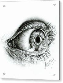 ' Realistic Human Eye' Acrylic Print by Abhilekh Phukan