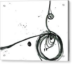 Revolving Life Collection - Modern Abstract Black Ink Artwork Acrylic Print by Patricia Awapara