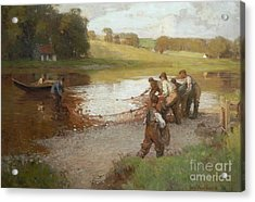 Salmon Fishing On The Tweed  Acrylic Print by MotionAge Designs
