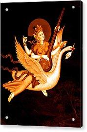 Saraswati 4 Acrylic Print by Lanjee Chee
