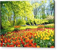Spring Garden Acrylic Print by Veikko Suikkanen