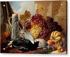 Still Life Of Game Acrylic Print by William Duffield