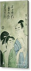 The Lovers Ochiyo And Handei  Acrylic Print by Carrie Jackson