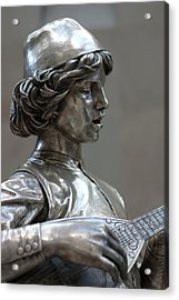 The Lute Player Acrylic Print by Carl Purcell