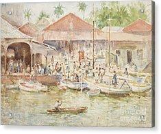 The Market Belize British Honduras Acrylic Print by Henry Scott Tuke