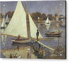 The Seine At Argenteuil Acrylic Print by Pierre Auguste Renoir