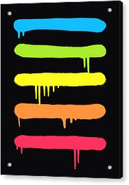 Trendy Cool Graffiti Tag Lines Acrylic Print by Philipp Rietz
