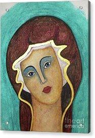 Virgin Mary Acrylic Print by Vesna Antic