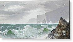 Waves Crashing Onto The Cornish Coast Acrylic Print by Celestial Images