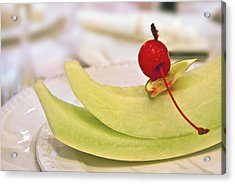 ... With A Cherry On Top Acrylic Print by Evelina Kremsdorf