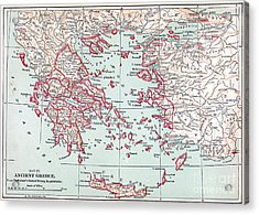 Map: Ancient Greece Acrylic Print by Granger