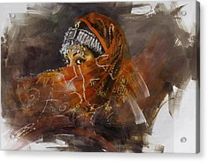 002 Pakhtun  Acrylic Print by Mahnoor Shah