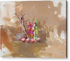 002 Sindh  Acrylic Print by Maryam Mughal