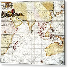 Indian Ocean: Map, 1705 Acrylic Print by Granger