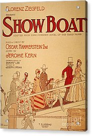 Show Boat Poster, 1927 Acrylic Print by Granger