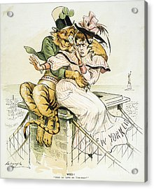 Political Cartoon Acrylic Print by Granger